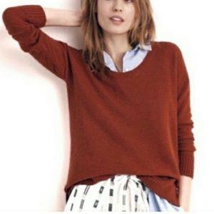 Madewell Weave Knit Hi Low Sweater Sz XS